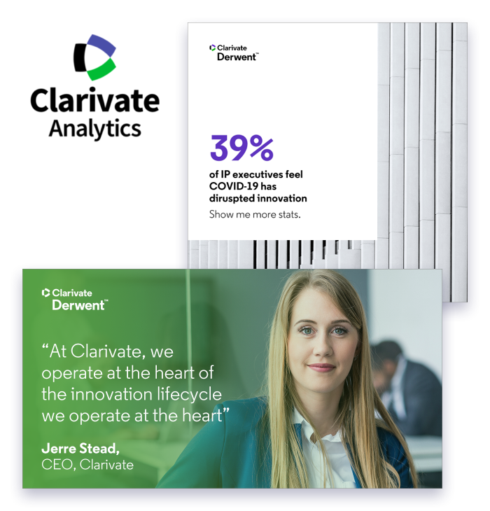 Brand template example from Clarivate by Content Stadium