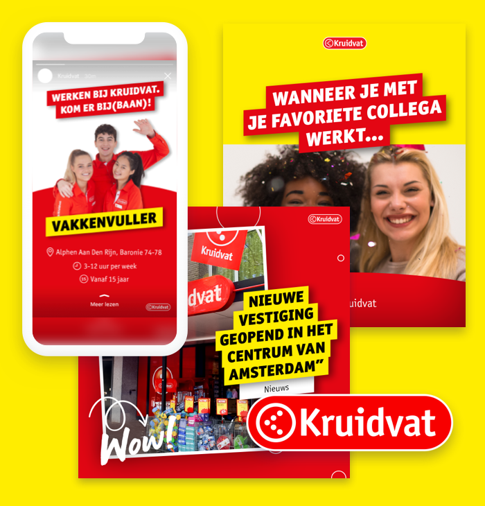 Branded templates examples from Kruidvat by Content Stadium