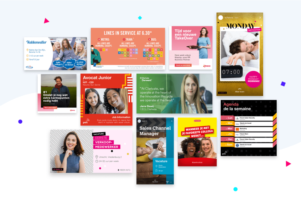 Brand example content templates by Content Stadium clients