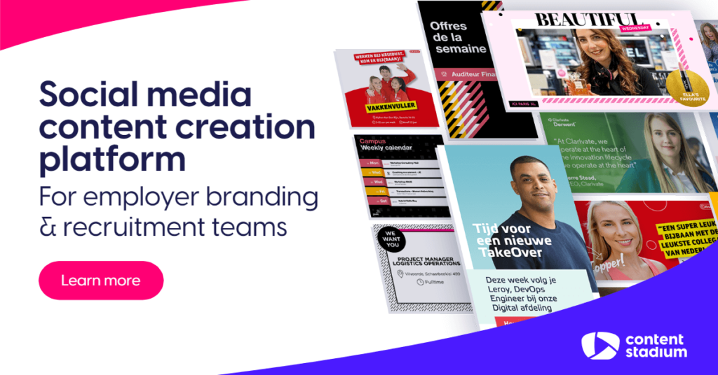 Discover our content creation tool for employer branding