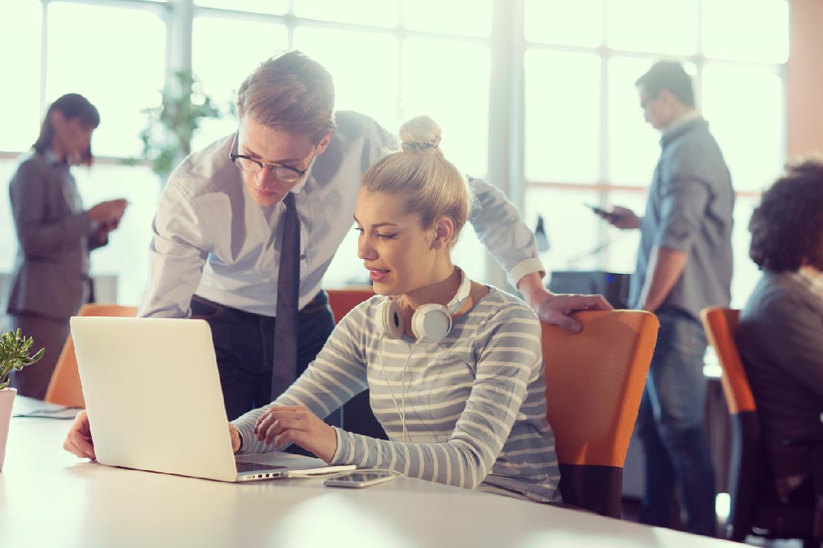 Employer branding team planning their social media strategy