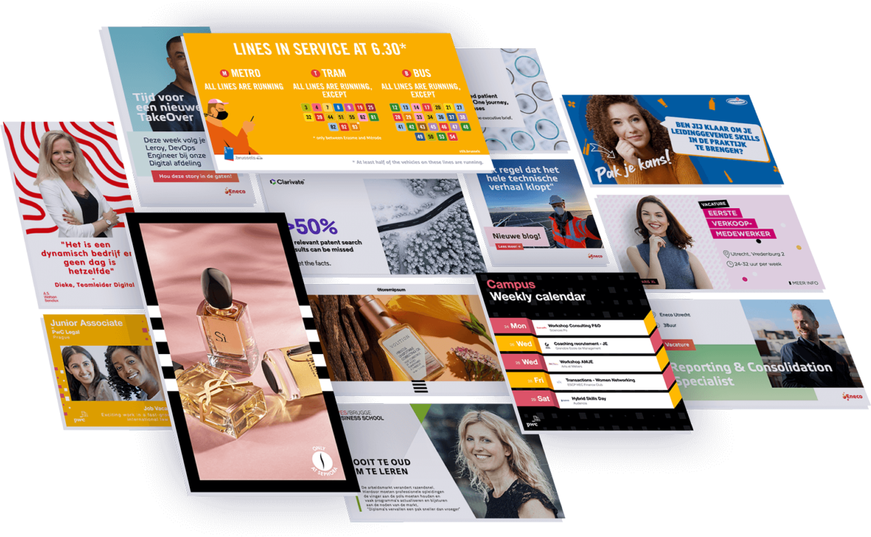 Branded templates from the Content Stadium social media content creation platform