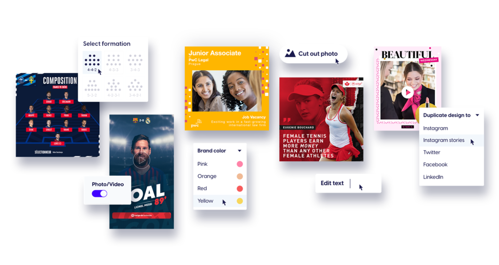 Features of the Content Stadium CREATE content creation tool