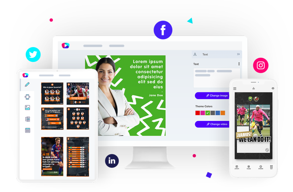 Content Stadium social media content creation platform