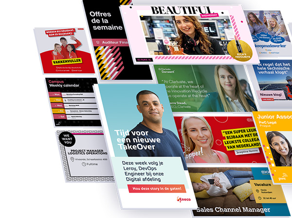 Employer branding social media templates