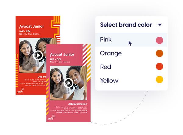 On-brand employer branding content templates