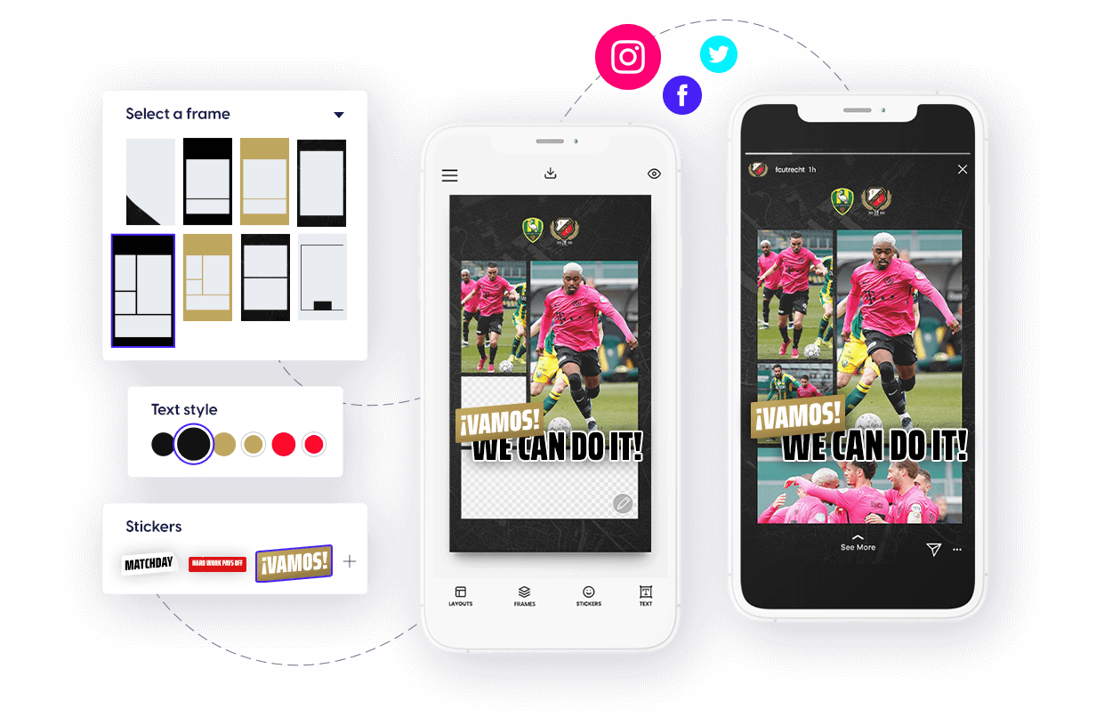 Content Stadium LIVE social media content creation app