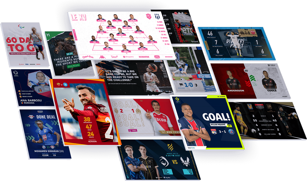 Sports social media images from Content Stadium content creation platform