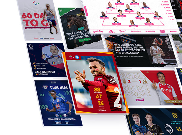 Sports content templates