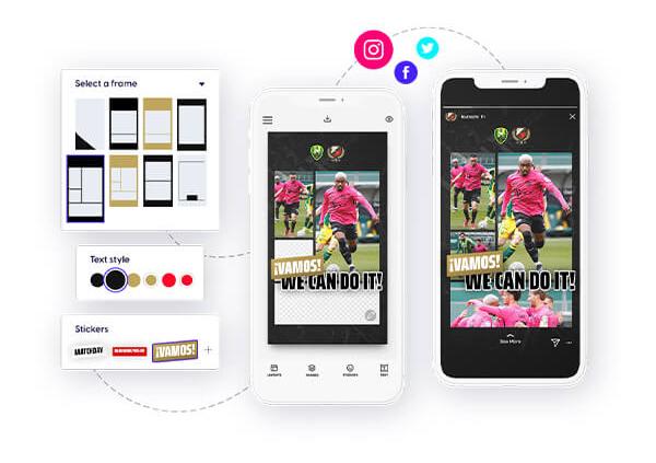 Content Stadium LIVE social media content app