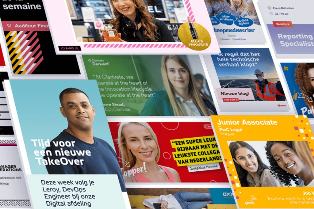 Examples of employer branding social media posts