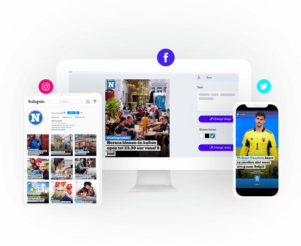 Het Nieuwsblad social media content and templates