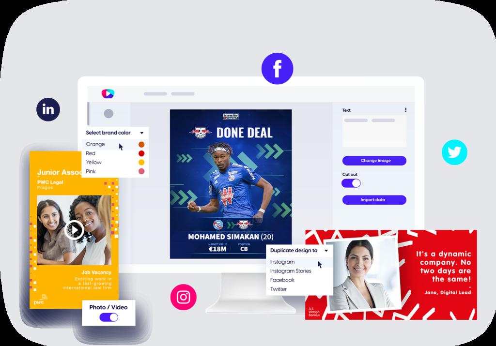 Content Stadium CREATE branded templates content creation tool