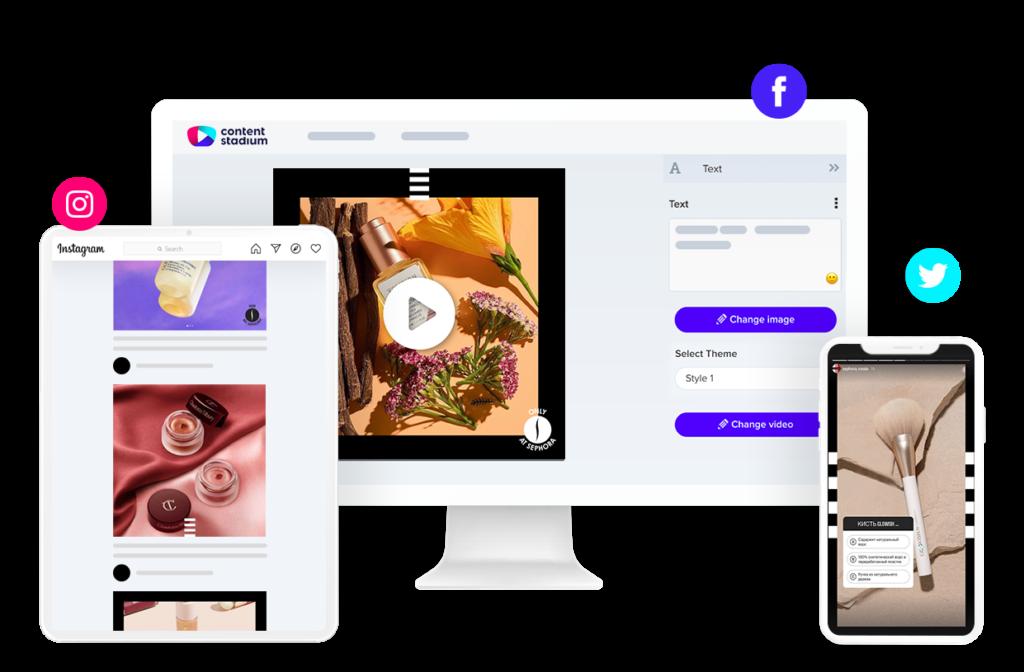 SEPHORA social media content in the Content Stadium CREATE tool